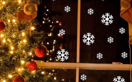 Elektrostatická vánoční samolepka Fanastick Bright White Snow