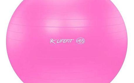 Gymnastický míč LIFEFIT ANTI-BURST 65 cm růžový