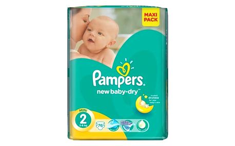 Pampers Plenky Active New Baby 2 Mini (3-6kg) - 228 ks
