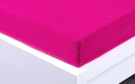 XPOSE ® Prostěradlo mikroflanel Exclusive dvoulůžko - fuchsiová 180x200 cm