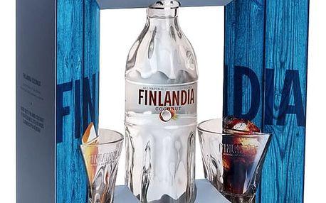 Vodka Finlandia Coconut 0,7l 37,5% + 2xsklo dárkové balení
