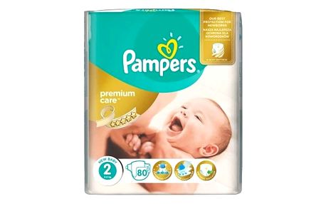 Pampers Premium Care POME box, S1 88ks + S2 80ks