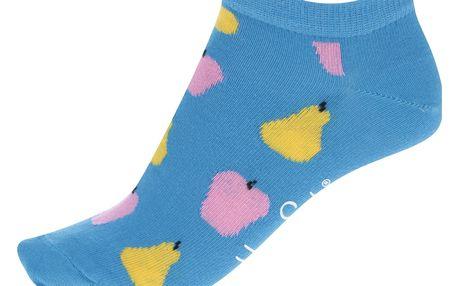 Modré dámské kotníkové ponožky s motivem ovoce Happy Socks Fruit