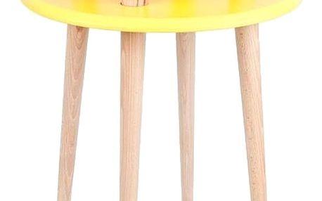 Žlutý konferenční stolek Ragaba UFO,Ø45 cm - doprava zdarma!