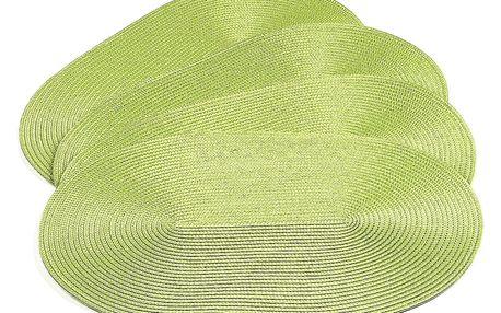 Jahu Prostírání Deco ovál světle zelená, 30 x 45 cm, sada 4 ks