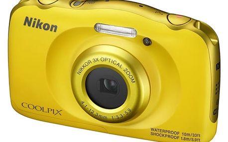 Digitální fotoaparát Nikon Coolpix W100 BACKPACK KIT (VQA013K001) žlutý