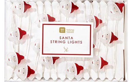 Vánoční světelný řetěz Talking Tables Botanical Santa,30světýlek