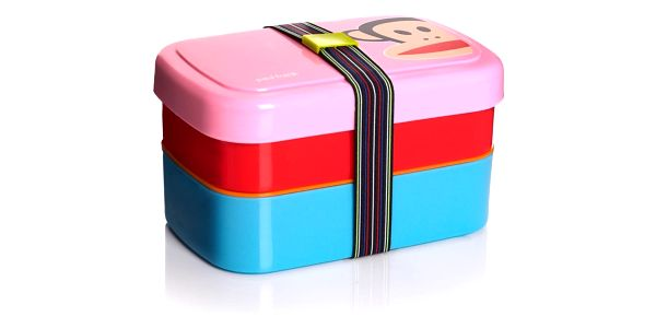 Dvoupatrový svačinový box LEGO® Paul Frank, růžový