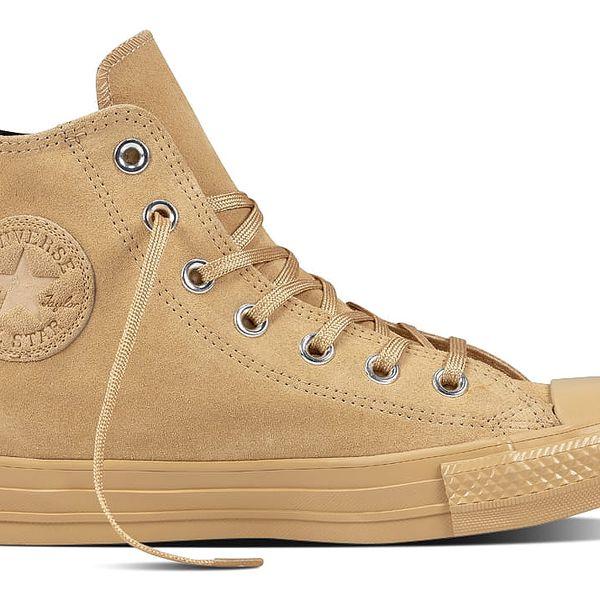 Converse béžové kožené boty Chuck Taylor All Star Light Fawn