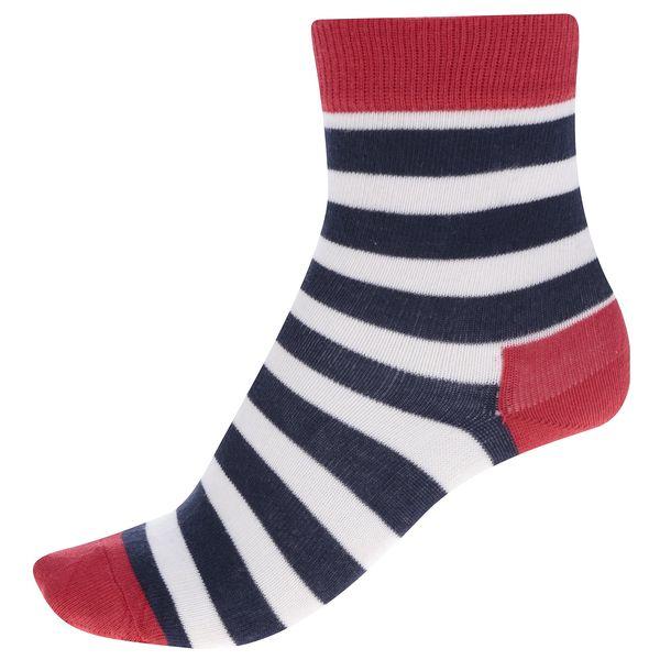 Modro-červené dětské pruhované ponožky Happy Socks Stripe