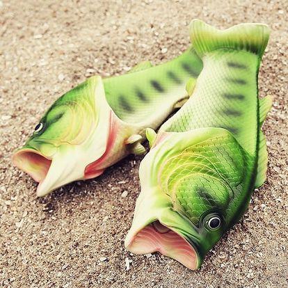 Gumové pantofle v podobě ryby - různé velikosti