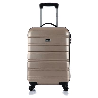 Béžový příruční kufr na kolečkách BlueStarBilbao - doprava zdarma!