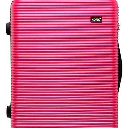 Dámský střední růžový kufr na kolečkách Travel 6676