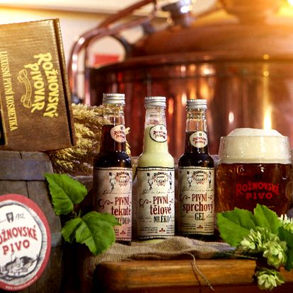 Pivní kosmetika z Rožnovského pivovaru
