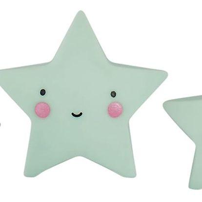 A Little Lovely Company Mini plastová figurka Star Mint - 3 ks, zelená barva, plast