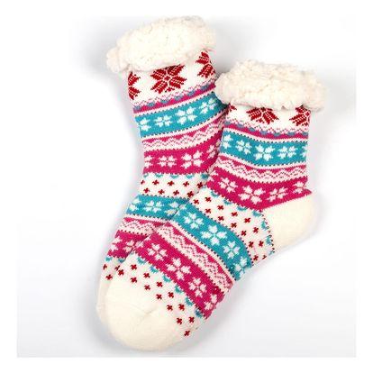 VIRGINA Ponožky domácí zateplené s norským vzorem