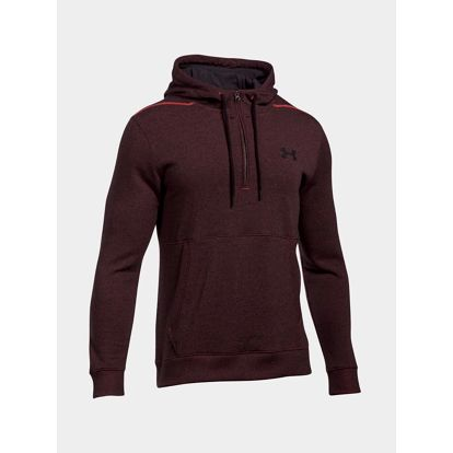 Mikina Under Armour Threadborne 1/2 Zip Hoodie Červená