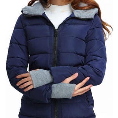 Dámská prošívaná zimní bunda s kapucí