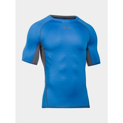 Kompresní tričko Under Armour HG Printed SS Modrá