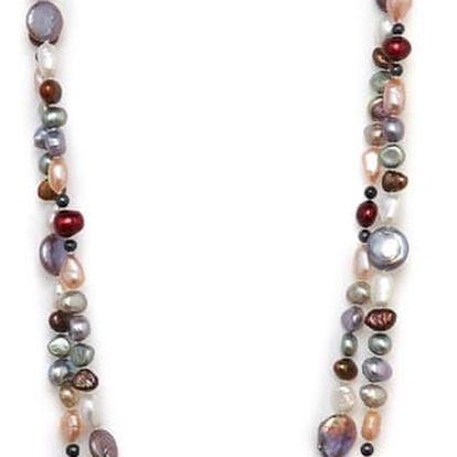 Barevný perlový náhrdelník Kyoto Pearl Baroque - doprava zdarma!