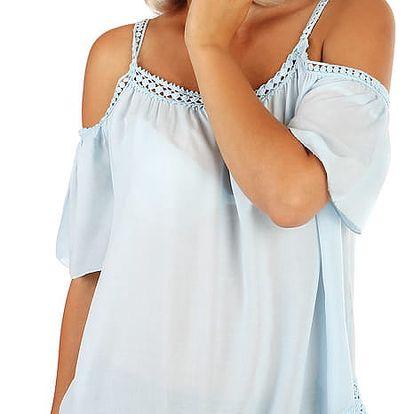 Dámský romantický top - i pro plnoštíhlé bílá