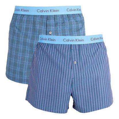 2PACK pánské trenýrky Calvin Klein modré XL