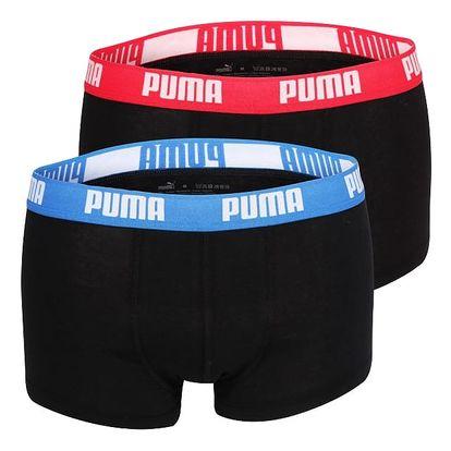 2PACK Pánské Boxerky Puma Black - Red / Blue Short XL