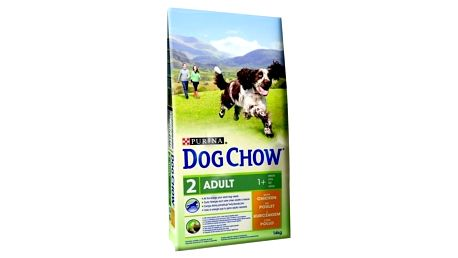 Granule Purina Dog Chow Adult kuře 11 + 3 kg