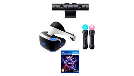 Sony PlayStation VR + kamera + Move Twin Pack + VR Worlds
