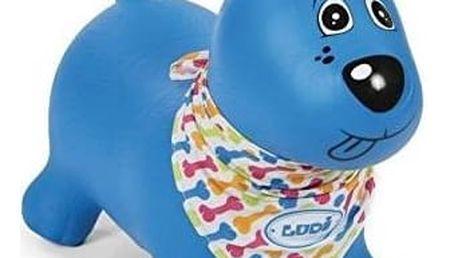 Skákací zvířátko Ludi pejsek modré + Fidget Spinner Esperanza modrý v hodnotě 39 Kč + Doprava zdarma
