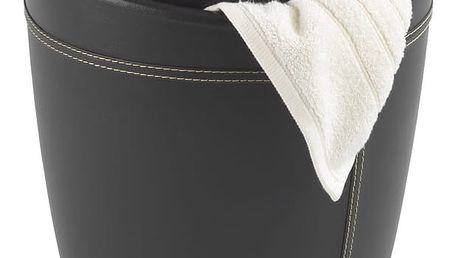 Hnědý koš na prádlo a taburetka v jednom Wenko Candy Look - doprava zdarma!