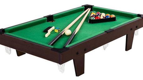 Tuin 40542 Mini kulečník pool s příslušenstvím 92 x 52 x 19 cm - hnědá