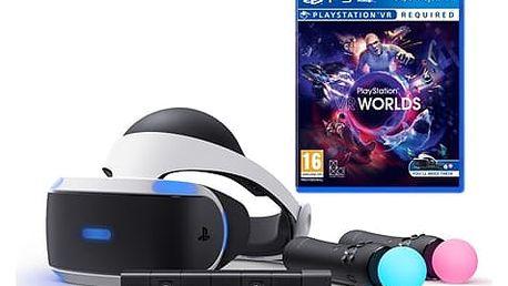 Brýle pro virtuální realitu Sony + Kamera + MOVE Twin Pack + VR WORLDS (PS719880561) + DOPRAVA ZDARMA