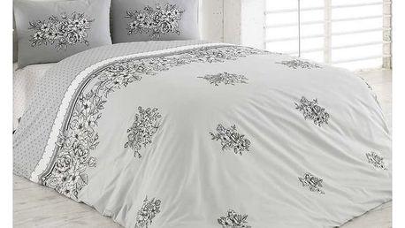 BedTex Bavlněné povlečení Spring šedá, 140 x 200 cm, 70 x 90 cm, 50 x 70 cm