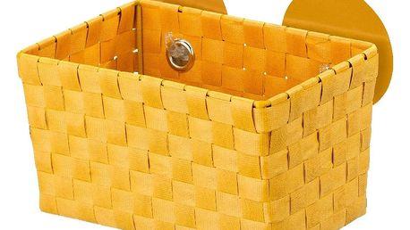 Oranžový košík s přísavkami Wenko Fermo