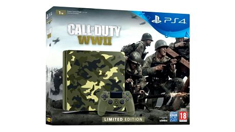 Herní konzole Sony PlayStation 4 Slim, 1TB, kamufláž + Call of Duty WW II + That's You