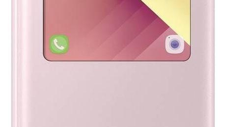 Pouzdro na mobil flipové Samsung S-View pro Galaxy A5 2017 (EF-CA520P) (EF-CA520PPEGWW) růžové