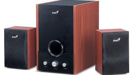 Reproduktory Genius SW-HF 1700 2.1 (31731037100) černá/imitace dřeva