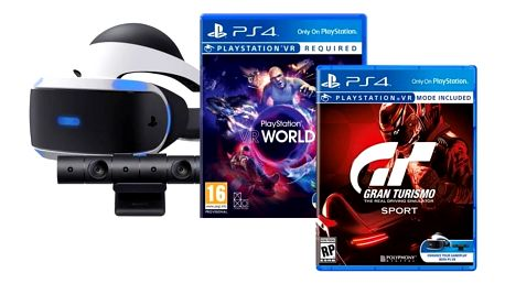 Sony PlayStation VR headset + kamera + Gran Turismo Sport