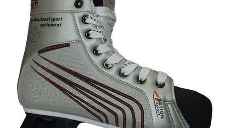 Hokejové brusle Acra Acra Canadien, vel. 46 černé/stříbrné + Doprava zdarma