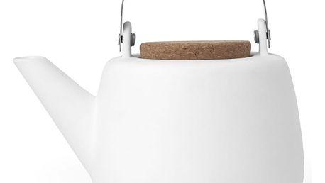 Bílá čajová konvička se sítkem a matným povrchem Viva Scandinavia Nicola,1l - doprava zdarma!
