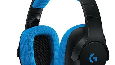 Mikrofon/sluchátka Logitech G233, černá/modrá