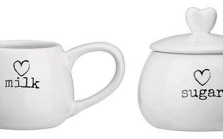 Bílá cukřenka a mléčenka Premier Housewares Charm
