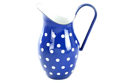 Orion Modrý smaltovaný džbán s puntíky 2,5l