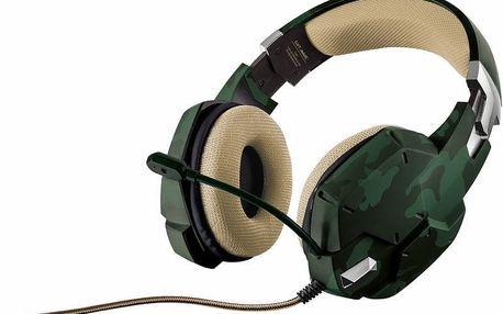 Mikrofon/sluchátka Trust GXT 322C Green Camouflage