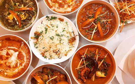Indické menu pro dvě osoby s výběrem chodů