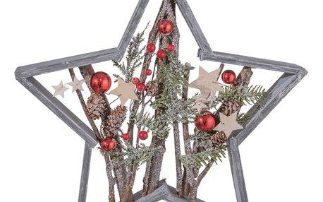 Dekorativní hvězda Clayre & Eef Holy Christmas Star, 39 x 39 cm