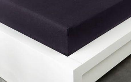 XPOSE ® Jersey prostěradlo Exclusive dvoulůžko - černá 200x220 cm