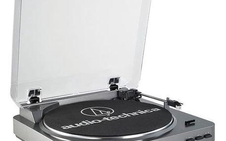 Gramofon Audio-technica AT-LP60-USB stříbrný + DOPRAVA ZDARMA