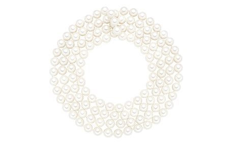 Náhrdelník s bílými perlami Perldesse Muschel, ⌀0,8xdélka120cm - doprava zdarma!
